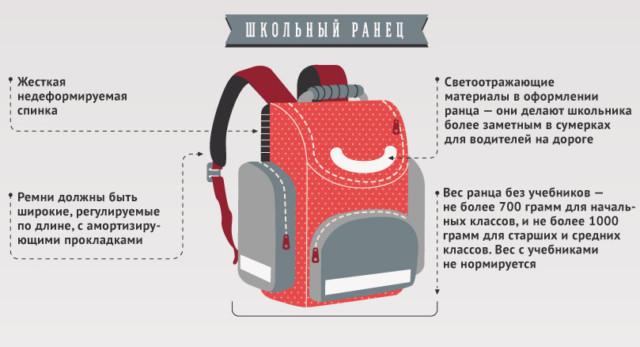Как правильно выбрать ранец для первоклассника » Notagram.ru