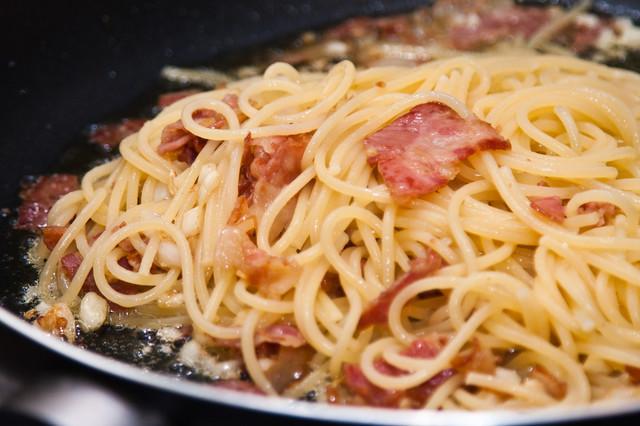 Паста карбонара классический рецепт с фото пошагово