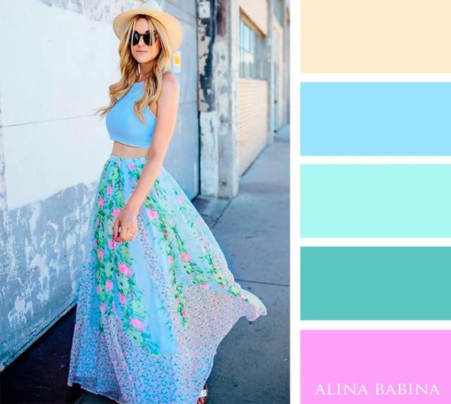 Август 2017: идеальные сочетания цветов одежды
