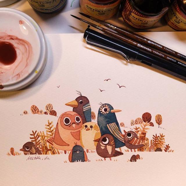 Уютные и милые рисунки от художницы Iraville