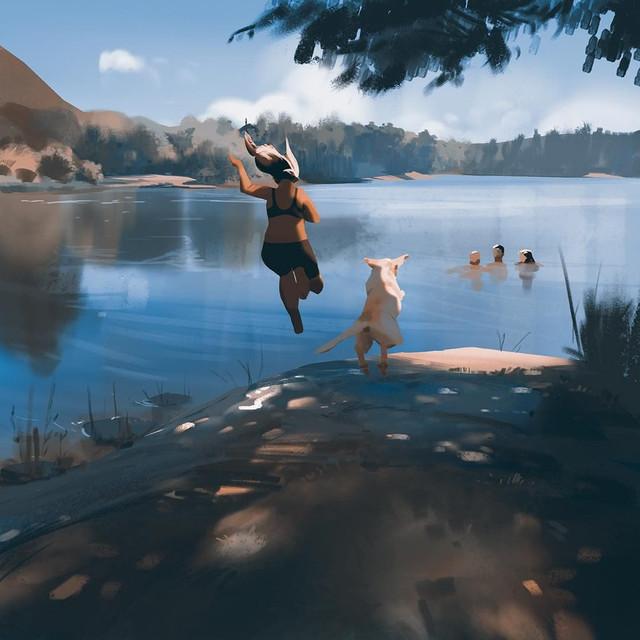 Художник Atey Ghailan: спокойствие и умиротворение