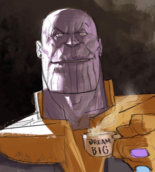 Художник Ramon Nunez рисует героев блокбастеров