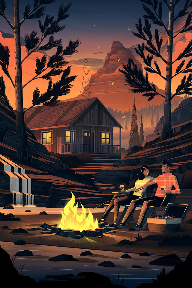 Уютная ностальгия прошлого в рисунках Брайана Миллера