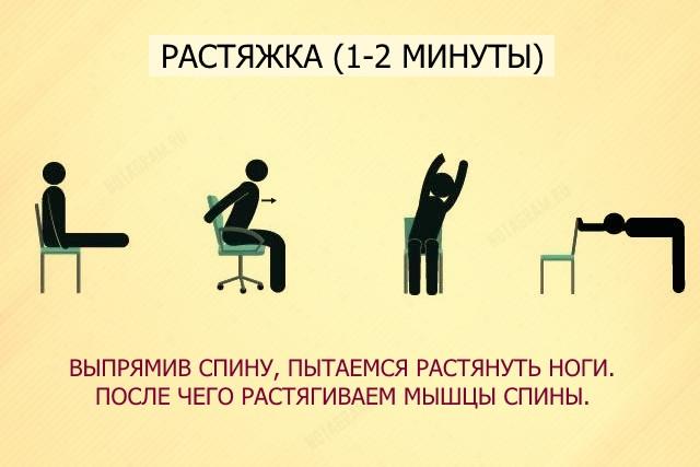 Упражнения при болях в спине в офисе
