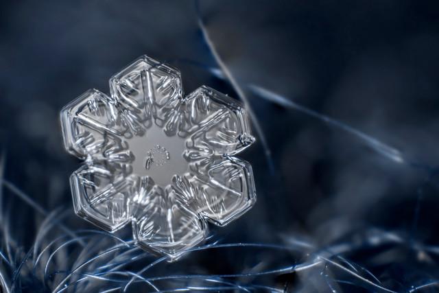 Фотографии самых красивых снежинок крупным планом