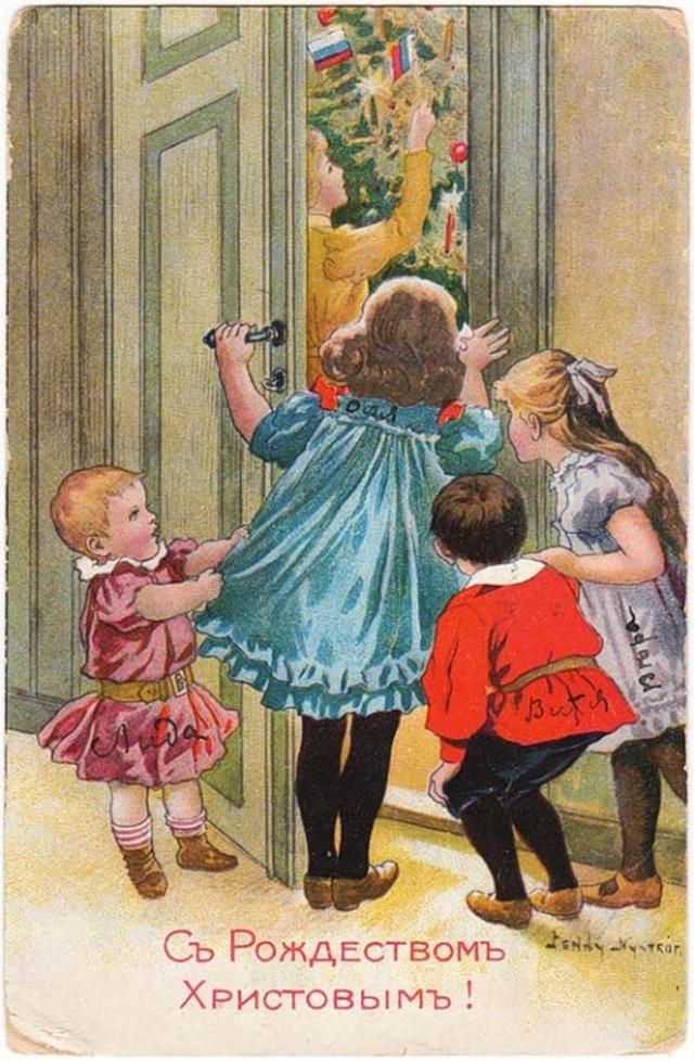 Вспоминая Новый год: открытки эпохи царской России