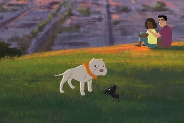 Трогательный мультфильм о дружбе котенка и собаки