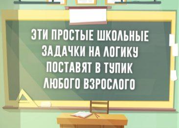 Школьные задачки на логику которые ставят нас в тупик