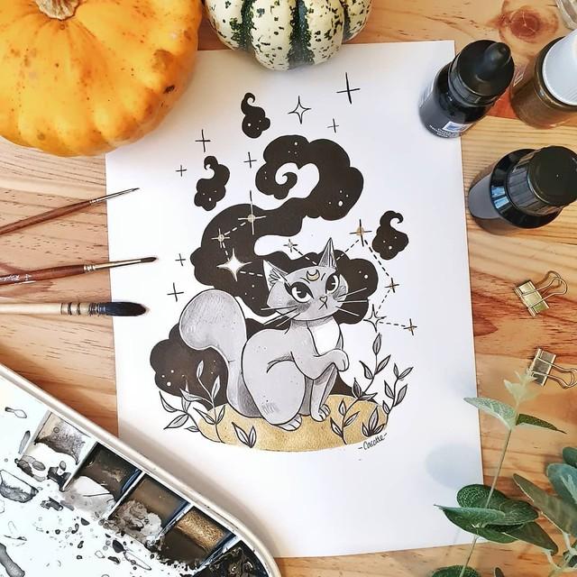 Йога и прочая милота в рисунках художницы cac0tte