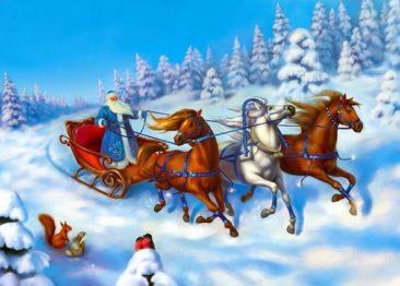 Почему Дед Мороз ездит на санях один