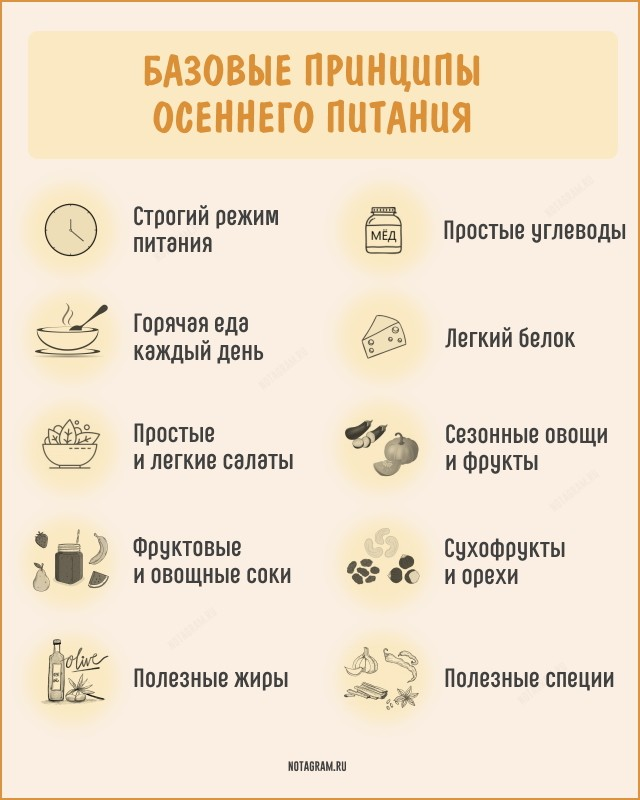 Базовые принципы осеннего питания